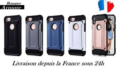 Coque hybride bumper AntiChoc Armure Housse protection iPhone S/+/5/6/7/8/X/XS