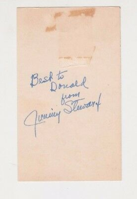 "Jimmy James Stewart Signed Autographed 3x5"" Cut The Philadelphia Story Actor"