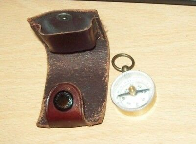 Vintage Girl Guides Leather Cased, The Pathfinder Magnetic Compass.