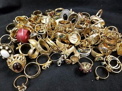Estate vintage Lot of Jewelry  Rings with stones and some stones missing