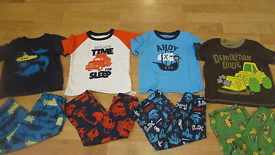 Lot Boys Carters Pajama Sets Sz. 3T Four Pair !!!