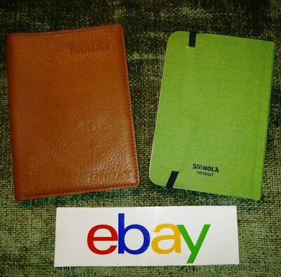NEW! Shinola Detroit BOURBON BROWN Small Journal Cover W THICK NOTEBOOK READ !