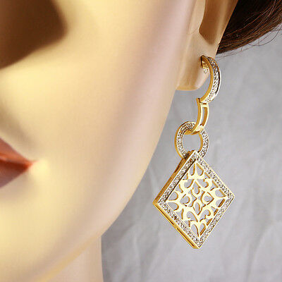 0.80 Carat Natural Diamond 14K Solid Yellow Gold Diamond Earrings