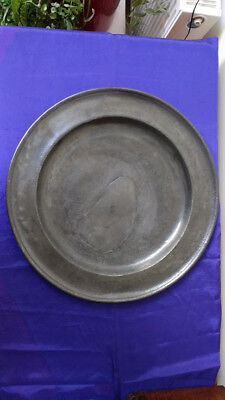"""Single Reed Pewter Charger (18 1/4"""")"""