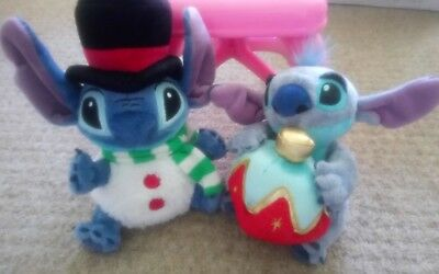 Disney store christmas Stitch musical Stitch with bauble