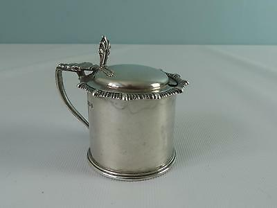 (ref165BX) Unusual Antique Solid Silver Mustard Pot Hallmark Sheffield 1912 100g