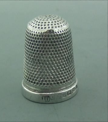 Antique Solid Silver  Thimble Constantine & Floyd Chester 1893