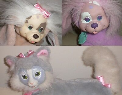 LOT 3 Hasbro Vintage 1990's Puppy & Kitty Surprise WITH 5 PUPPIES/ 3 KITTENS!