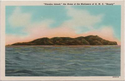 PITCAIRN ISLAND: Illustrated Postcard - Home of the Mutineers HMS Bounty (11236)