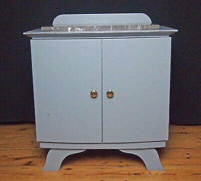 Old Deco French bedside cabinet cupboard Marble top Shabby chic project.