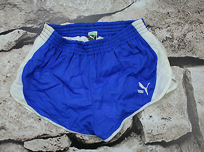 PUMA  _ VINTAGE SHORTS _ 1990s'  Shiny Nylon Sprinter Shorts _