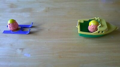 Airfix Weebles Speed Boat Water Ski and 2 Weebles 1970's