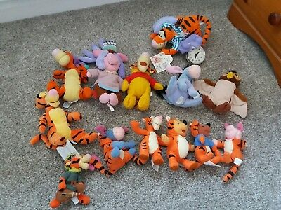 13 winnie the pooh soft toys, bundle, lovely condition