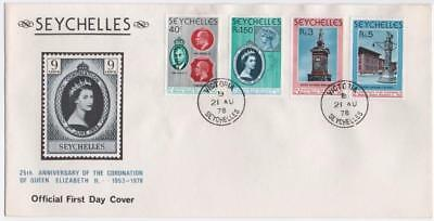 SEYCHELLES: 1978 Examples on Official First Day Cover - Victoria Cancels (10996)