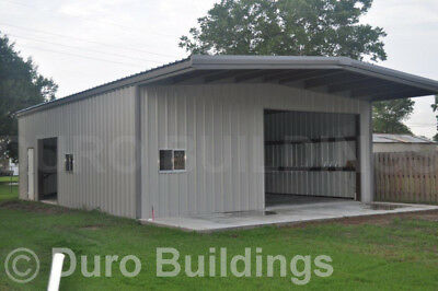 DuroBEAM Steel 30x40x14 Metal Building with 10' Self Supporting Canopy DiRECT