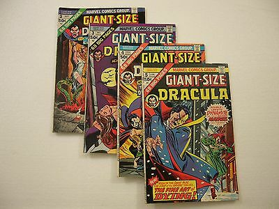 TOMB OF DRACULA Giant Size 2-5 & G.S. CHILLERS #1 CURSE OF DRACULA, 2, 3