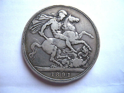 Victoria 1891 Jubilee Head Silver Crown - A good collectable coin