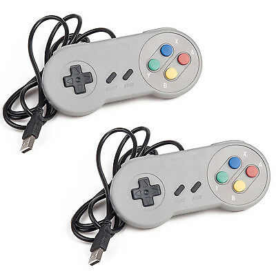2 Pack USB Controller for SNES Super Nintendo Games Retro Classic Gamepad