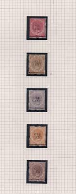 STRAITS SETTLEMENTS: Victoria Ovpt - Ex-Old Time Collection - Part Page (11011)