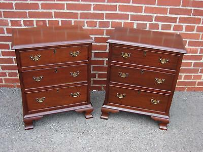 Pair Craftique Mahogany Nightstands Chest