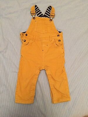 Boden yellow corduroy dungarees. 18-24 months.