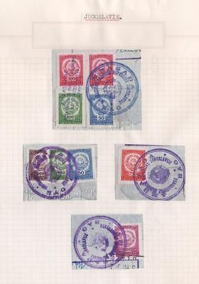 YUGOSLAVIA: Revenue Examples - Ex-Old Time Collection - Album Page (11337)
