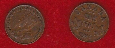 Canada 1 Cent 1926  Free Shipping