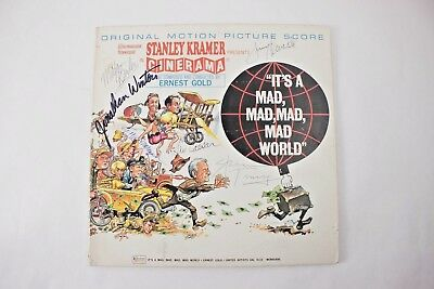 Its a Mad Mad Mad Mad World Signed Autograph Record Sid Caesar Peter Falk Knotts