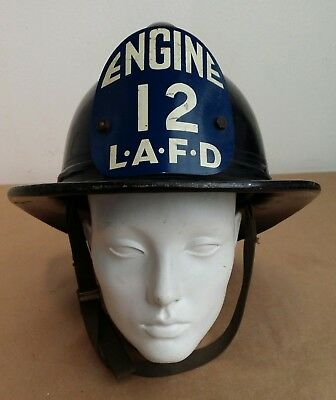 Los Angeles Fire Dept.  Lafd  Msa Fire Helmet Engine 12 Ex Condition! Free Ship!