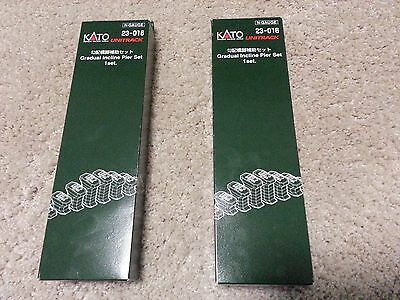 LOT of 2 New KATO 23-016 - Gradual Single Track Incline Pier Set (N scale) AUS