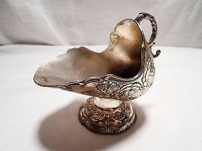 Vintage Silver Plated Sugar Bowl  Shaped Like Coal Scuttle