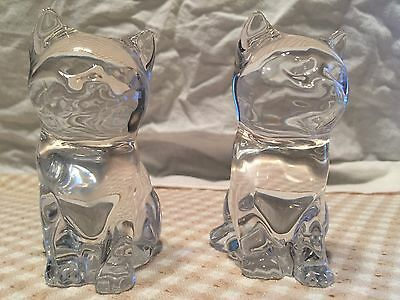 Glass Cat Figurine set  - MINT