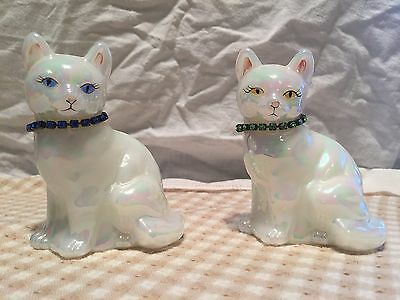 Glass Cat Figurine set K. Brightbill - MINT