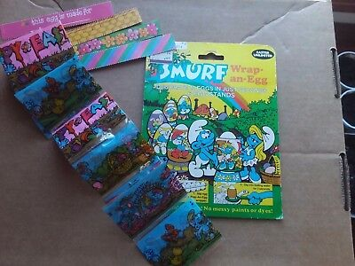 Smurf Wrap-an-Egg 1984 Plastic Easter Kit. Opened but Complete! Smurfette Peyo