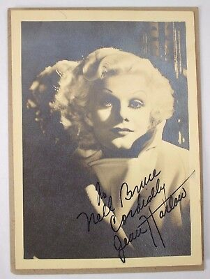 Jean Harlow Signed Autographed 7x5 b/w Photo Red Dust Blonde Bombshell Reckless