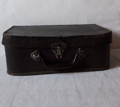 Vintage Antique Art Cardboard suitcase medium Home decor from Europe cca 1950s.