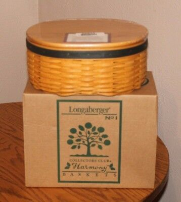 Longaberger Harmony #1 Basket with protector and Lid - NIB