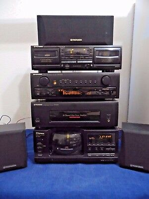 PIONEER HOME STEREO SYSTEM CX-4000, M-4000, CT-W205R, PD-F906, 3-Speakers AMP CD