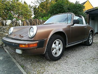 1975 Porsche 911 S Targa Restoration Project - Classic - Barn Find - No Engine
