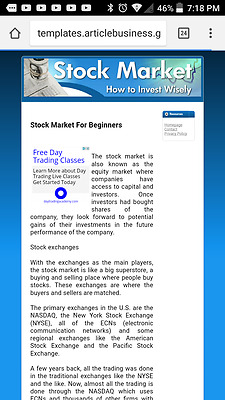 Stock Market  Niche Articles Websites 1 Free Domain & Free Hosting