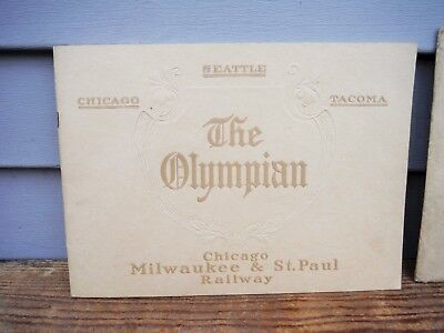 Vintage 1910 Chicago Milwaukee St. Paul Railroad Booklet Brochure The Olympian