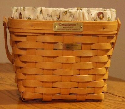 Longaberger Tour Basket with Liner and Protector