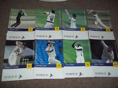 Yorkshire County Cricket Club Autograph Card Collection 2010 Squad Joe Root Etc