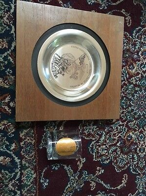 United States Marine Corps Heavy Framed Silver Plate & Very Nice Heavy Glass