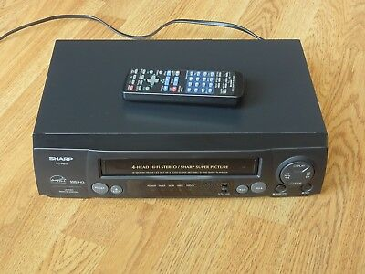 Sharp VCR VHS Player & Recorder VCH811 With Remote Control