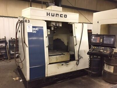 Used Hurco BMC-30 CNC Vertical Machining Center Mill 24 Tool Rigid Tap CT40 1997