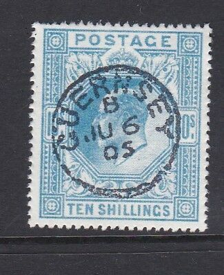 SG265: 10s Ultramarine: Superb Used 'Guernsey' CDS: FORGERY