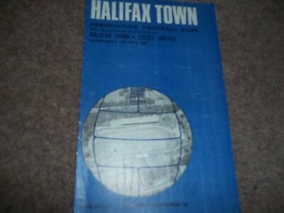 1969 West Riding Senior Cup Semi Final Halifax Town V Leeds United 14Th May 1969