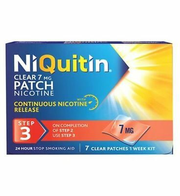 NIQUITIN CLEAR PATCHES STEP 3 - 7 Clear Patches - 7mg