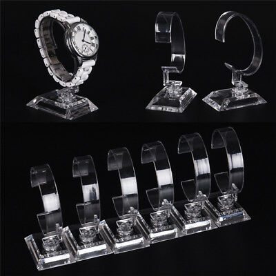 2pcs Clear Acrylic Detachable Bracelet Jewelry Watch Display Holder Stand RackJS